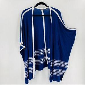 North Eleven Open Front Poncho Cardigan Navy